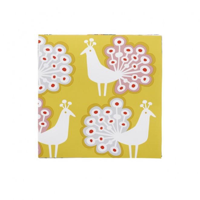 Paper napkins Peacock yelllow