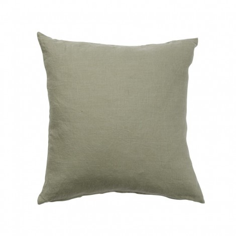 Linen cushion cover Linn green