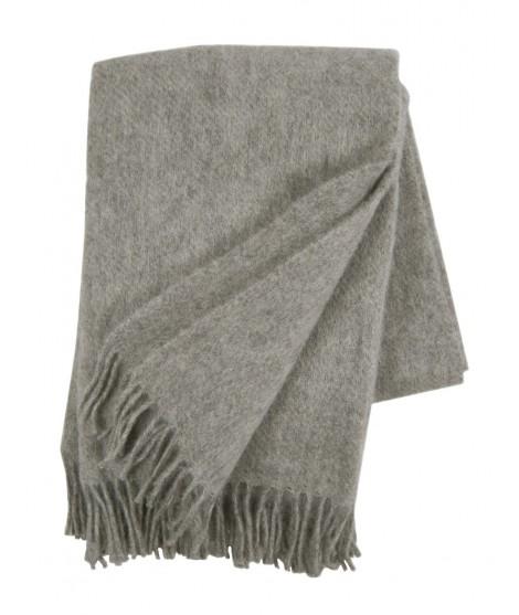 Wool throw Gotland grey