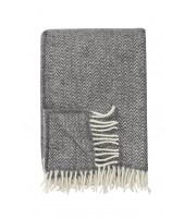 Wool throw Chevron grey
