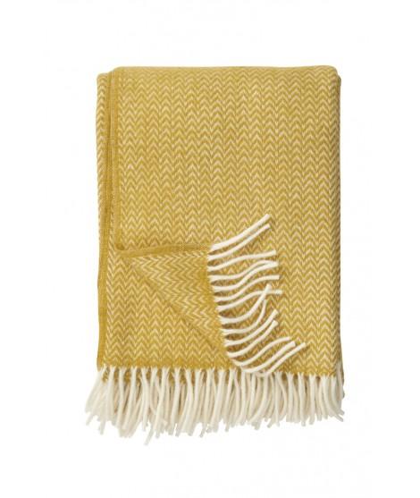 Wool throw Chevron yellow