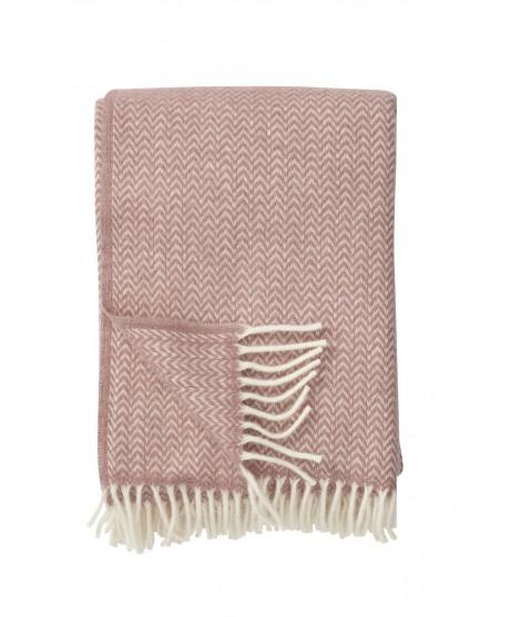 Wool throw Chevron nude pink