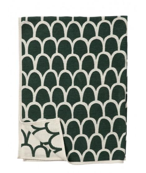 Bavlněná deka chenille Feathers green