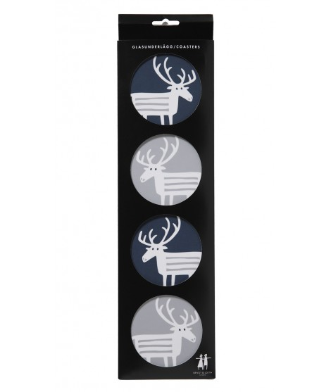 Podložky pod sklenice Reindeer set
