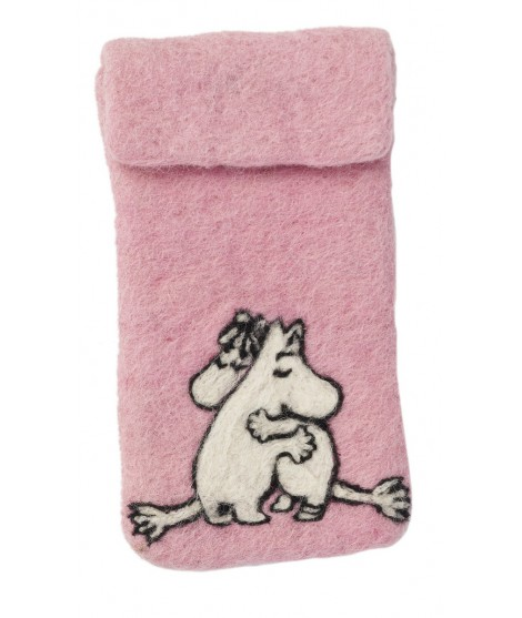 Felted iPhone cover Moomin pink love