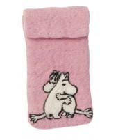 Pouzdro na mobil Moomin pink love