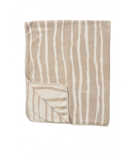 Cotton blanket Bamboo chenille beige