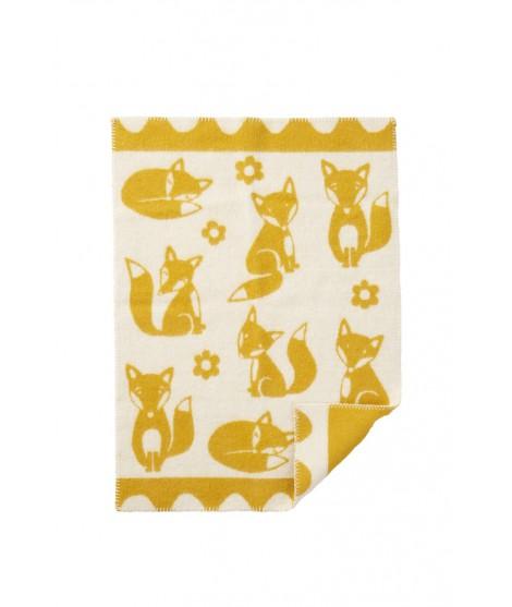 Vlněná dětská deka Fox saffron