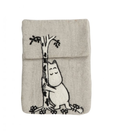 Felted iPad cover Moomin Tree Hug