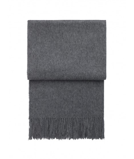 Wool throw Classic grey