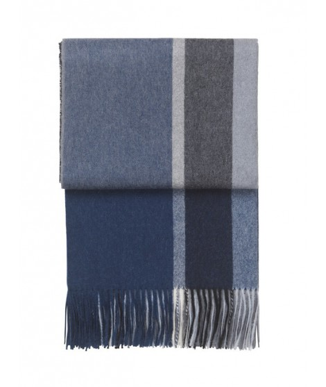 Alpaka throw Manhattan dark blue