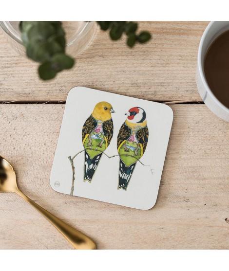 Tácek pod sklenici Two Goldfinches Pěnkava