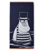 Bath towel Moomin dark blue 70 x 140