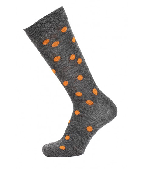Merino ponožký Dots orange