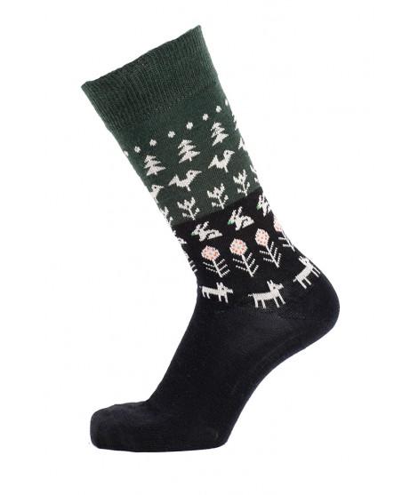 Merino socks Nature black