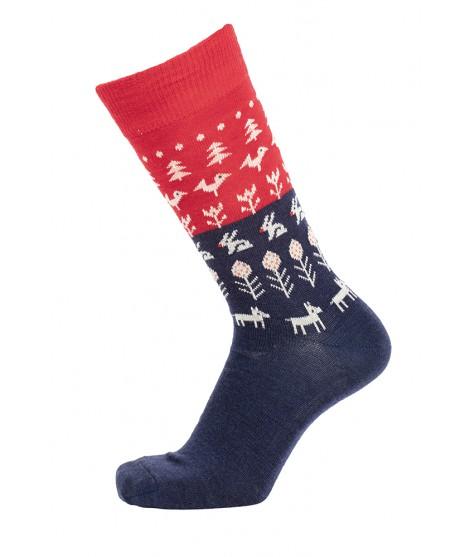 Merino socks Nature red marine