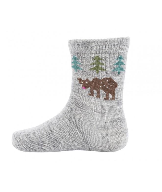 Kojenecké ponožky z merino vlny Bear light grey - GET INSPIRED c2a8094736