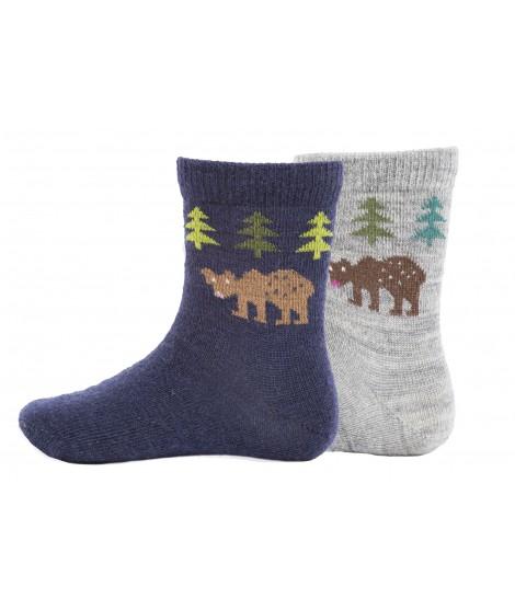 Dětské merino ponožky Bear kids