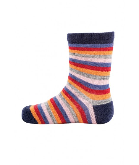 Kids merino socks Stripy navy