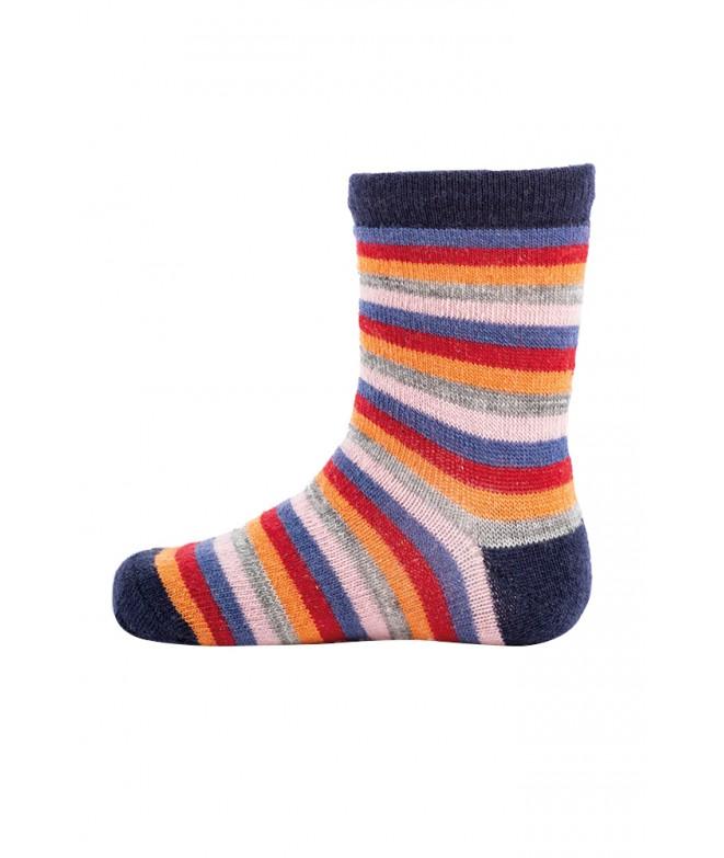 Dětské merino ponožky Stripy navy