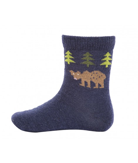 Kids merino socks Bear navy