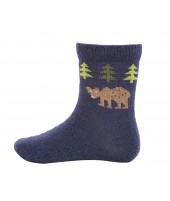 Dětské merino ponožky Bear navy