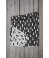 Bavlněná deka GRAN černo-bílá2