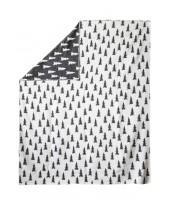 Bavlněná deka GRAN černo-bílá