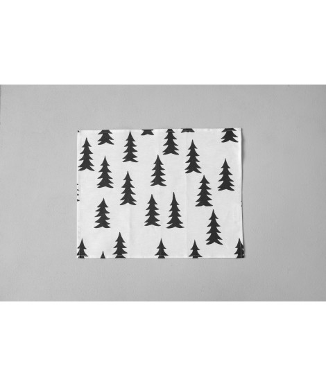 Cotton table mat GRAN black