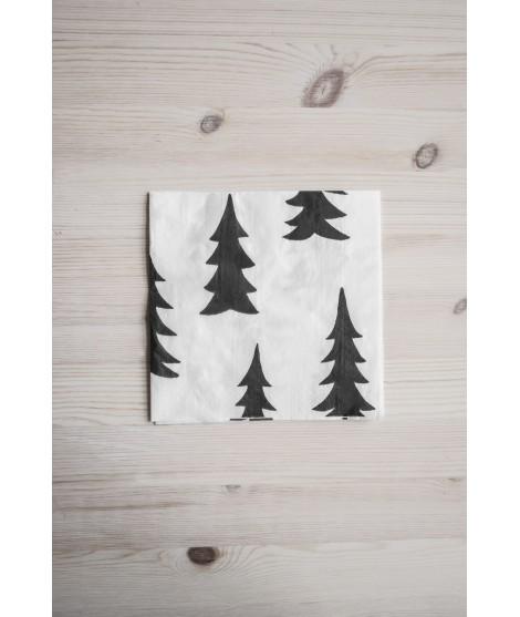 Paper napkins Gran black