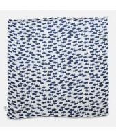 Dětská mušelínová plena Fish blue