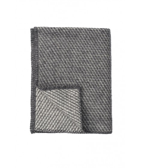 Wool Baby throw Velevet grey