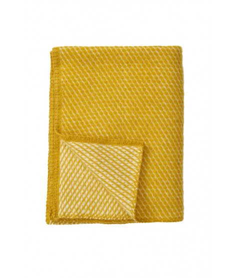 Kids woolen throw Velevet saffron