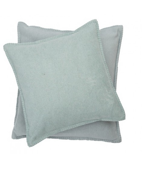 Cotton cushion SYLT glass green