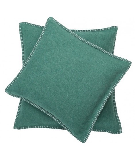 Cotton cushion SYLT dark green