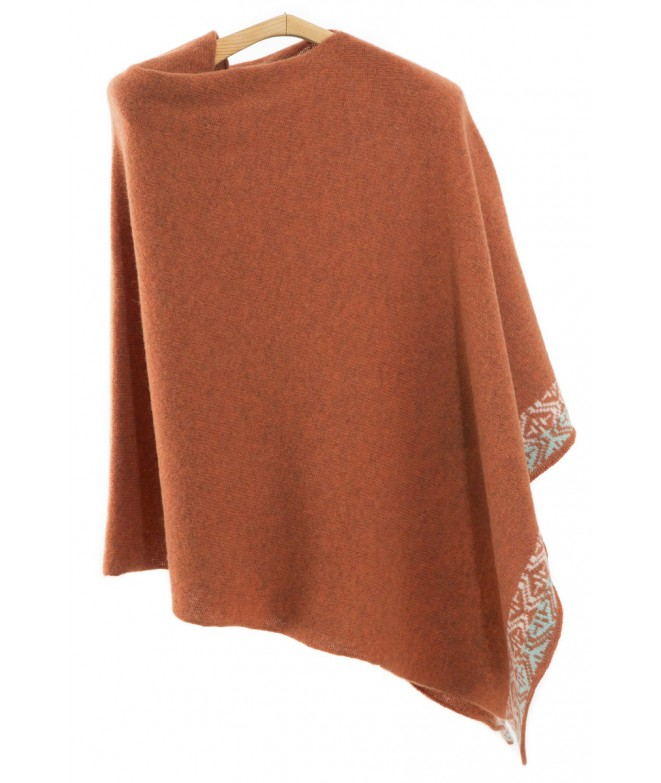 Poncho Single rust 85x85