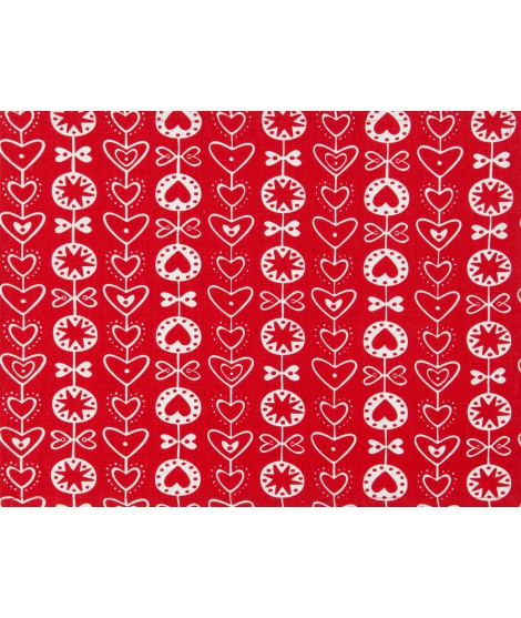 Table runner Heart red