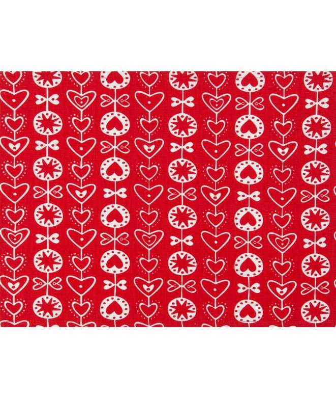 Table runner Heart red