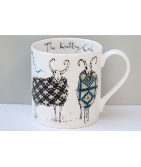 Porcelain mug Knitting circle