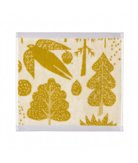 Face towel Bird & Tree mustard 30 x 30