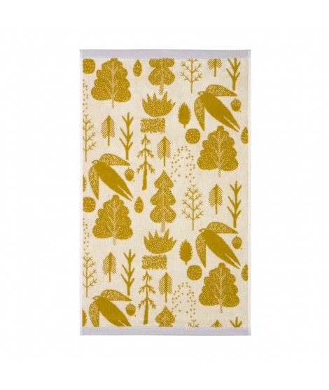 Hand towel Bird & Tree mustard 50 x 90