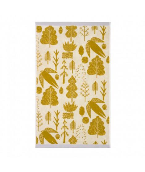 Ručník Bird & Tree mustard 50 x 90