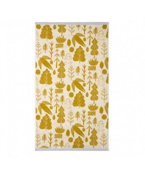 Bath towel Bird & Tree mustard 70 x 125