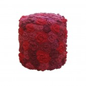 Stool Flowers round Red Wine