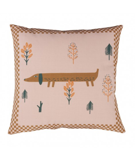 Cushion DW Sausage Dog pink