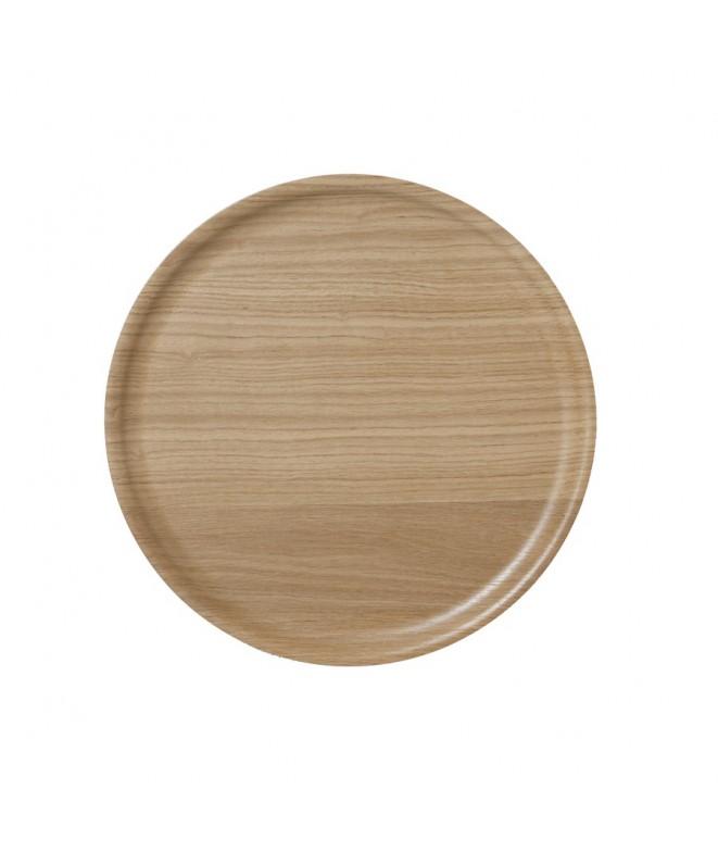 Dřevěný kulatý tác B&L Wood oak dub d35