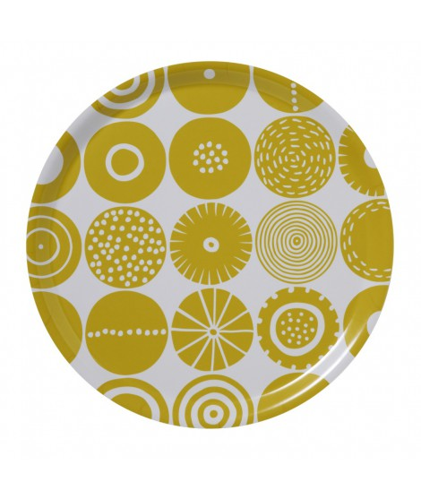 Round square tray Candy Yellow
