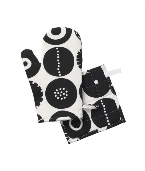 Oven glove Candy black