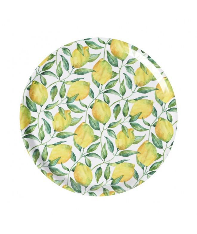 Kulatý servírovací tác Lemon Tree d38