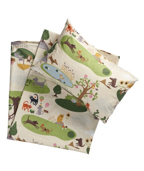 Children bed linen Cats and Dogs